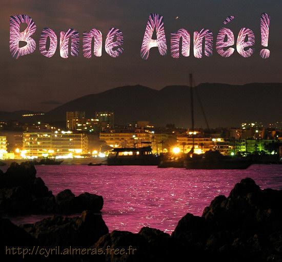 Bonne Année 2016 Feux d'artifice Antibes