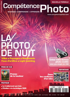 Fireworks picture on photo magazine cover