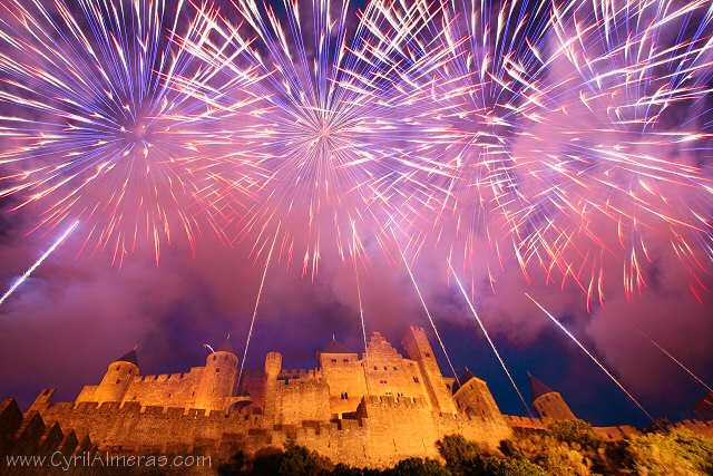 feux d artifices carcassonne 14 juillet