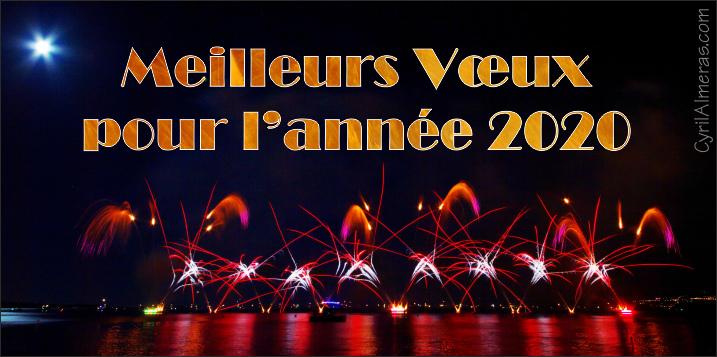 carte bonne année 2020 gratuite Cartes Bonne Annee 2020 gratuites feu d'artifice, Belle Année