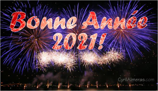 Cartes Bonne Annee 2021 gratuites feu d'artifice, Belle Année